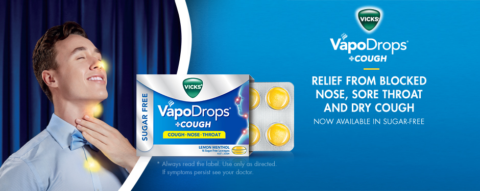 vicks vapodrops and cough sugar free