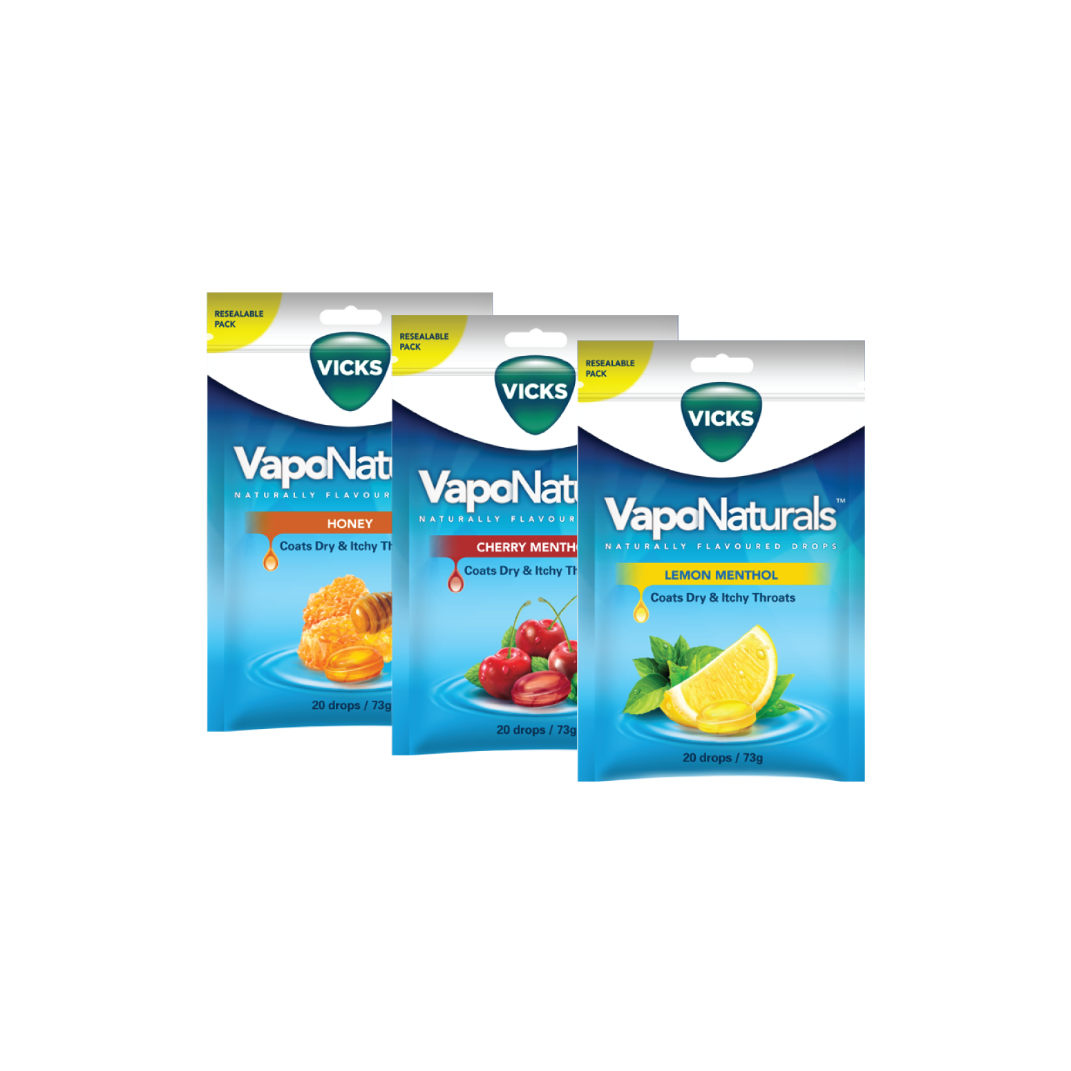 Vicks VapoNaturals Resealable