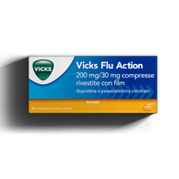 VICKS FLU ACTION compresse per sintomi del raffreddore e dell'influenza